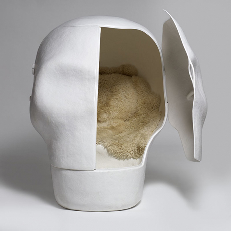 Sensory Deprivation Skull Chair by Atelier Van Lieshout 3