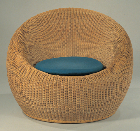 round rattan chair by isamu kenmochi