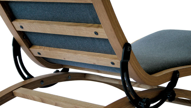 Back to the Drawing Board Chaise by Jonas and Lard Dressler Detail 1