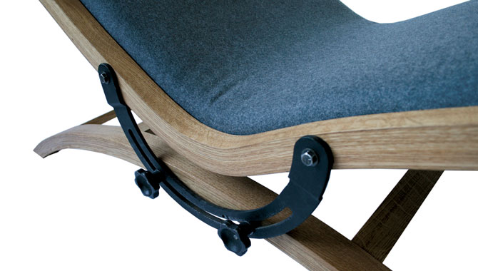 Back to the Drawing Board Chaise by Jonas and Lard Dressler Detail 3