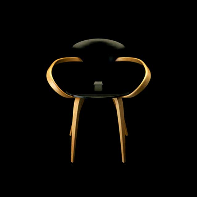 Cherner Chair Black against black