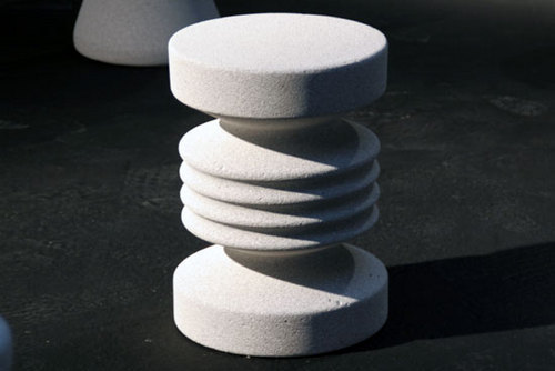 Concrete Stool by Max Lamb