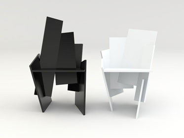 Square Chair by Frederik Roije Chairblog