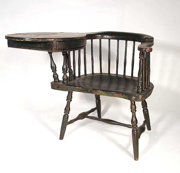 Antique Windsor Writing Chair