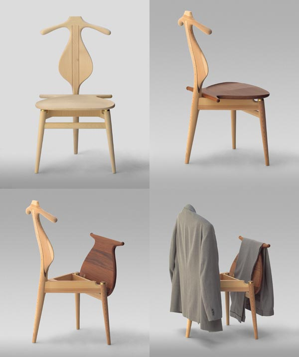 I too am a chair fan and I have an original vintage Hans Wegner Valet chair