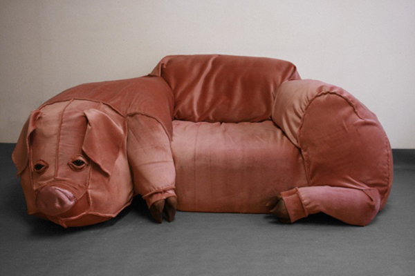 Pig Couch by Pavia Burroughs