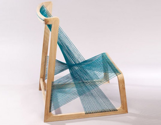 Silk Chair by Åsa Kärner of Alvidesign Side View