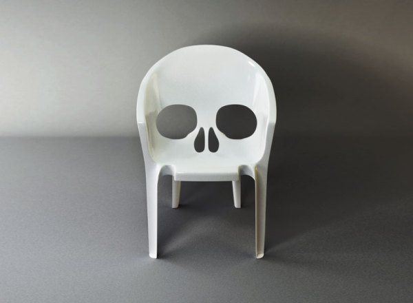 Skull Chair by Pool