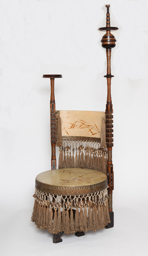 Throne Chair by Carlo Bugatti (1898)