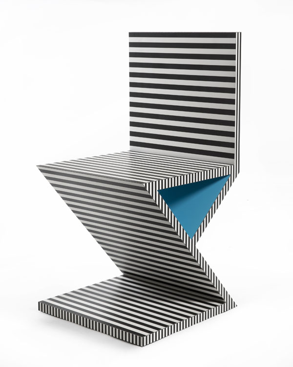 Neo Laminati Chair no 34 or Z or zig zag side