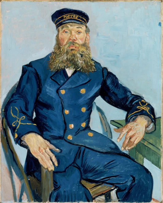 Van Gogh Sitting Postman