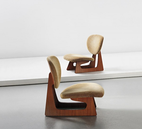 Junzo Sakakura, Pair of lounge chairs, model no 5016