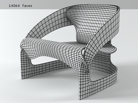 3 D model of Chair 4801 by Joe Colombo