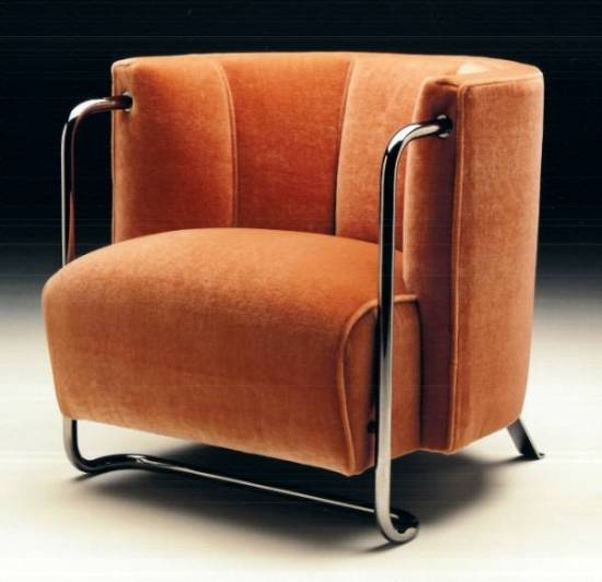 30ies Orange Art Deco Chair