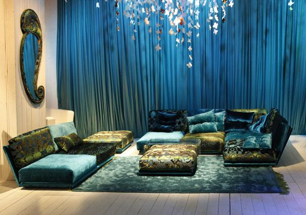 trendfarbe wohnzimmer:Bretz Sofa