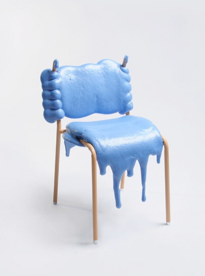 Blue FFF Chair by Therese Granlund Side