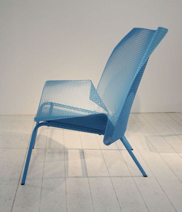Blue Grillage by Francois Azambourg Side view