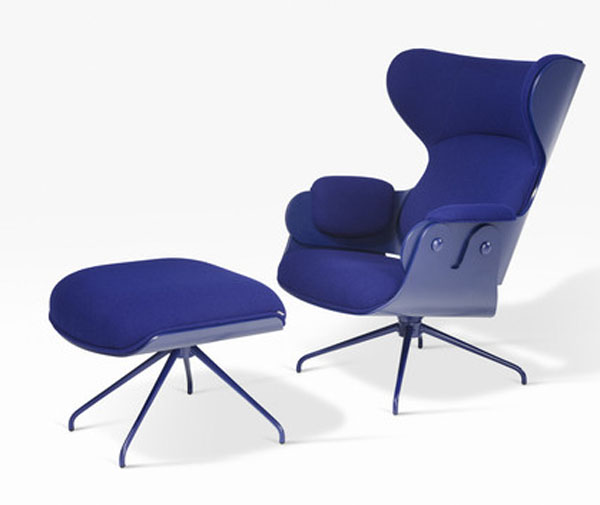Blue Lounger and Ottoman by Jaime Hayon