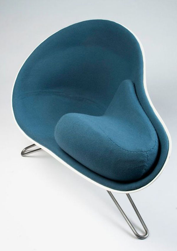 Blue Mussel Chair by Hanne Kortegaard
