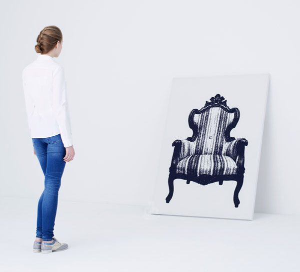 Canvas Chair by YOY against the wall