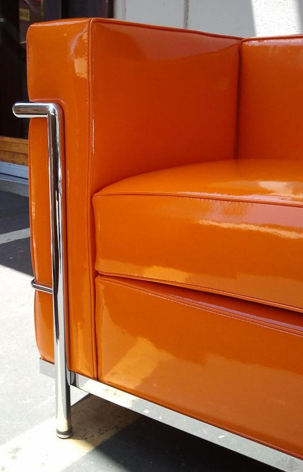 Detail of an Orange LC2 by Le Corbusier