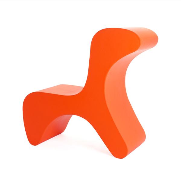Flip Chair for Kids by Marco Hemmerling orange