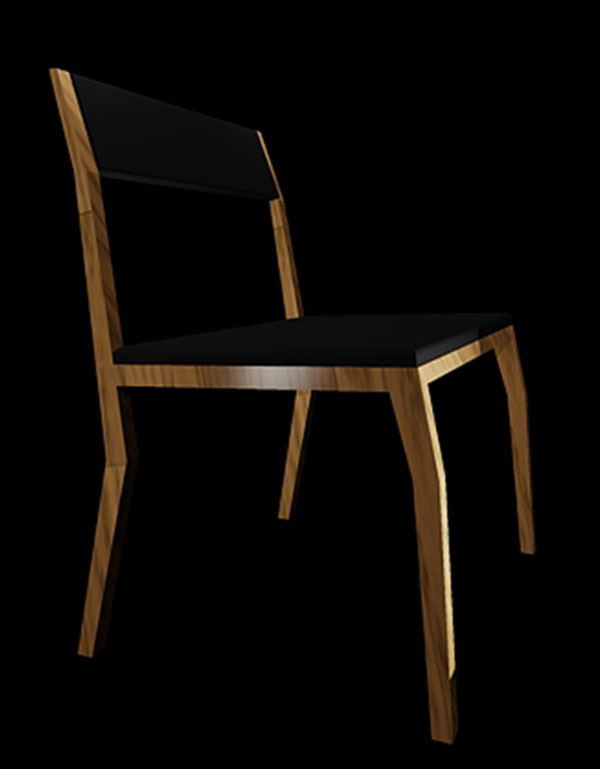 Gazelle Chair Rendering