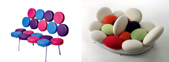 George Nelson, Marshmallow sofa 1956 vs Matteo Thun, Tantisassi sofa 2005
