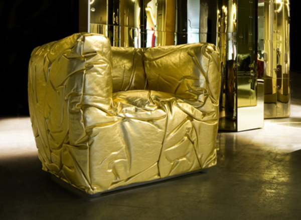 Golden Sponge Chair by Peter Traag 2