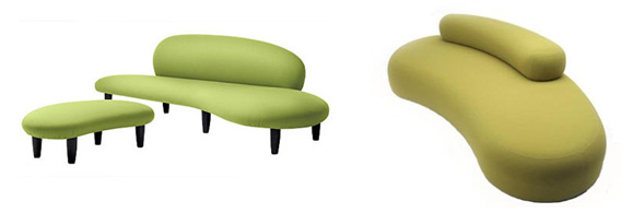 Isamu Noguchi, Freeform sofa,1946 vs Piero Lissoni, Bubble Rock sofa, 2005