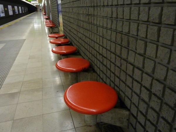 Italian Torino Metro Station Seats