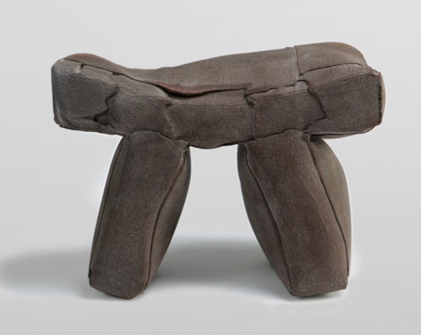 Light Stone Stool by Ori Yekutier