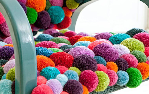 NEWS HUB | Bommel by MYK: Pom Pom Poufs & a Chair | art and design news, art news