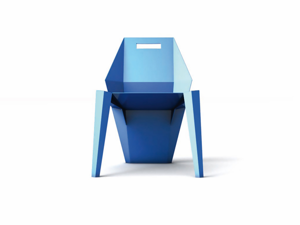 Modern Blue Monobloc by Mario Fragiotta
