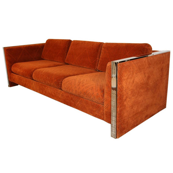 Orange Cube Sofa by Selig Monroe