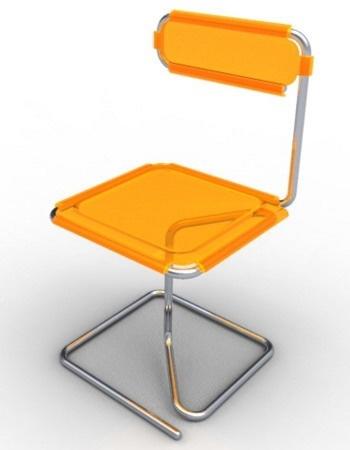 Orange Flamingo Chair by Abdelmounem Taouai