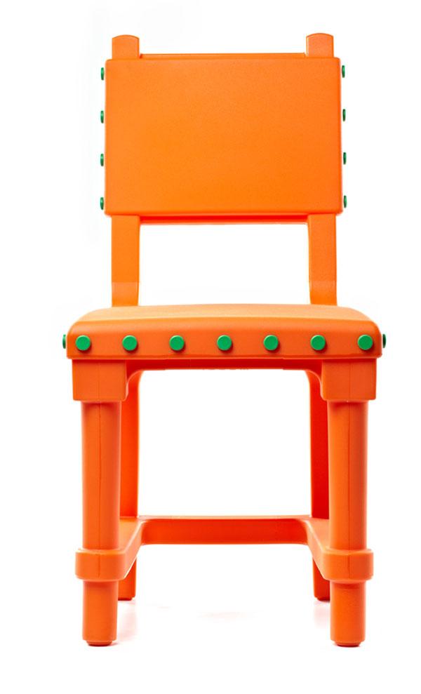 Orange Gothic Chair
