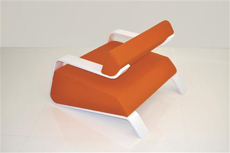 Orange Hyperlounge Chair by Bjorn Iggsten Backview