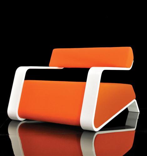 Orange Hyperlounge Chair by Bjorn Iggsten