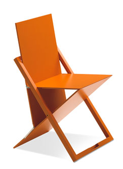 Orange ISIS Folding Chair by Jake Phipps
