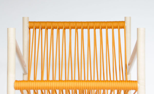 Orange Loom Chair by Laura Carwardine Front Detail