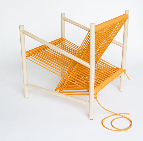 Orange Loom Chair by Laura Carwardine Overal