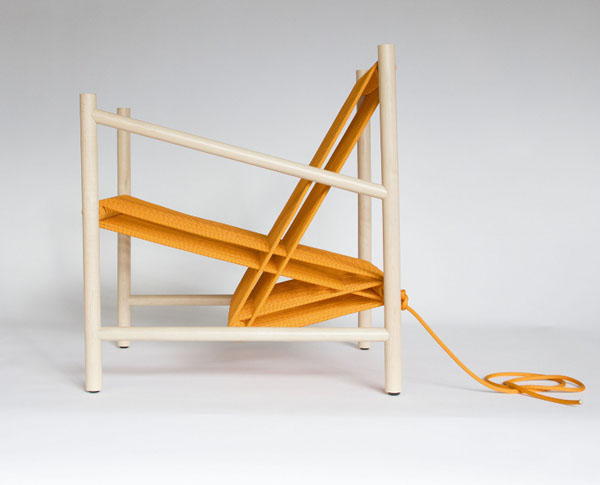 Orange Loom Chair by Laura Carwardine Side