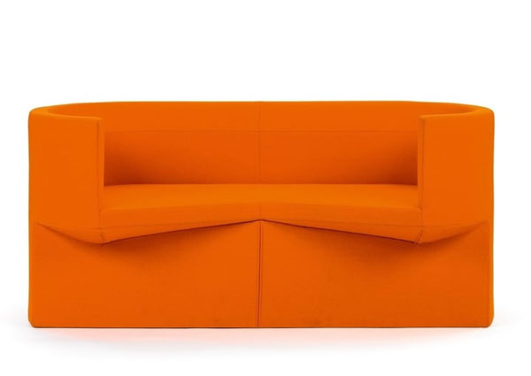 Orange Odin Sofa by Konstantin Grcic
