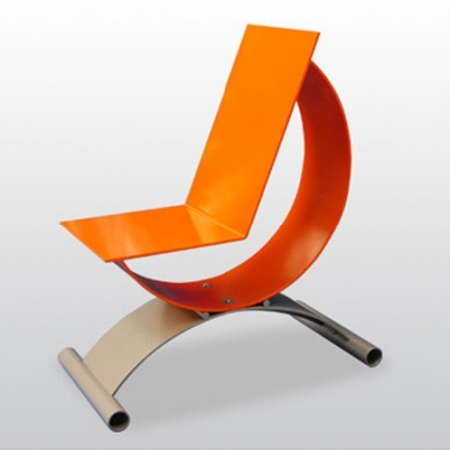 Orange Quarter Hour Chair by Chriss Handle