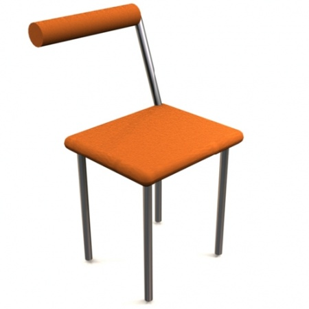 Orange Stand Up Chair by Chriss Handle