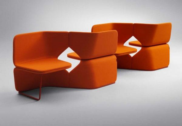 Orange Studio Bench by UN Studio for Offect