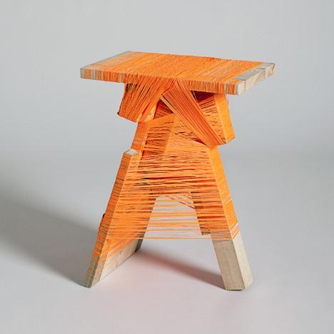 Orange Thread Wrapping Machine by Anton Alvarez