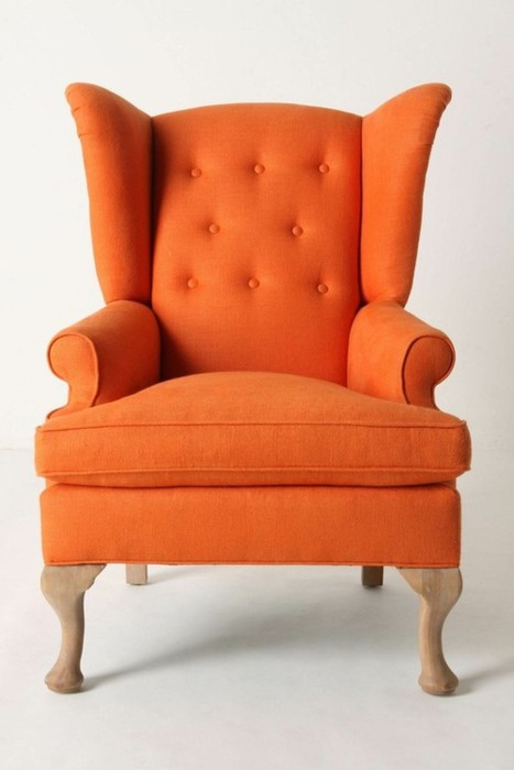 Orange Wing Chair