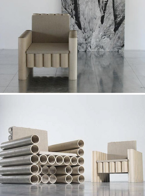 Paper Tube Chair by Manfred Kielnhofer Low